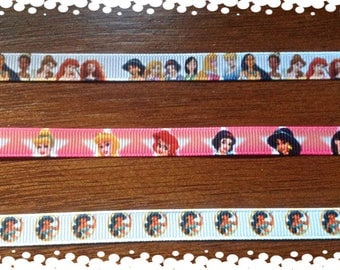 Cat or Dog 3/8 Wide Custom Made Adjustable Disney Princess Patterns for Cat or Dog Collar