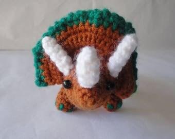 Triceratops Plush, Triceratops Amigurumi, Plush, Teddy Triceratops, Plush, Triceratops Toy, Triceratops Plush Crochet, Dinosaur Triceratops