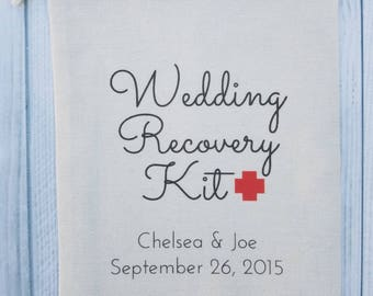 10 Wedding Favors, Hangover Kit, Survival Kit Favor Bags, Gift Bags, Thank you Bags Custom - Wedding Recovery Kit