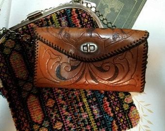 Vintage Leather Hand Crafted Ladies Wallet