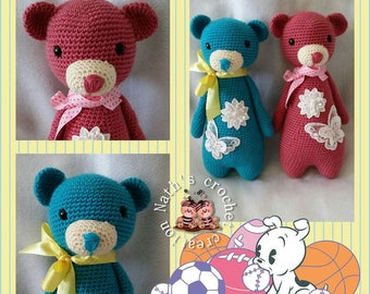 Great crochet way pink bear