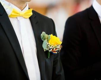 Bow tie yellow man