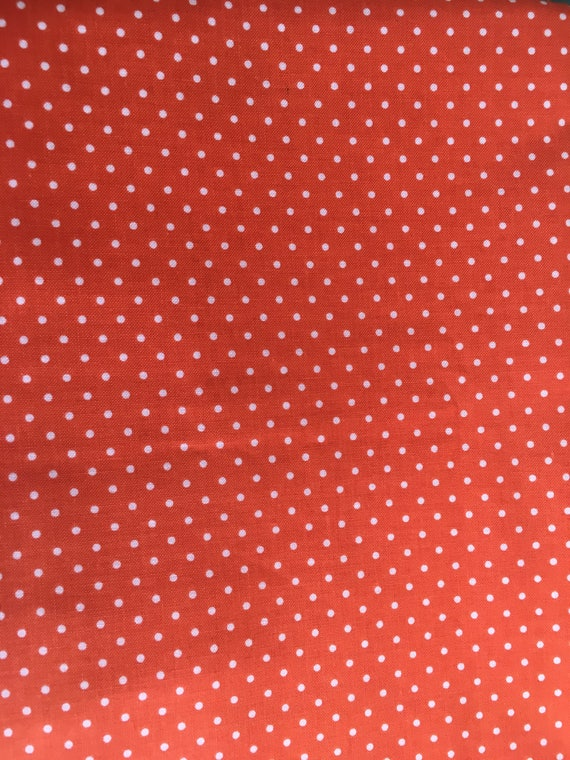 Riley Blake Basics Orange Swiss Dot 1 yard Remnant