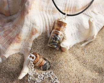 Lavender in a bottle necklace