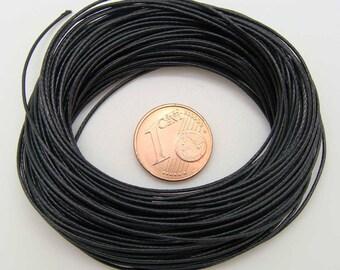 FIL Echeveau 9m environ cordon mix coton polyester 05mm NOIR