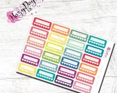 Rainbow Habit Trackers -  Quarter Box. Health Tracker, Pill Tracker, Planner Stickers