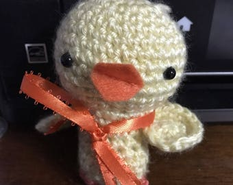Crocheted Amigurumi Chick