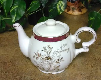 40th Anniversary Musical Teapot by Norcrest