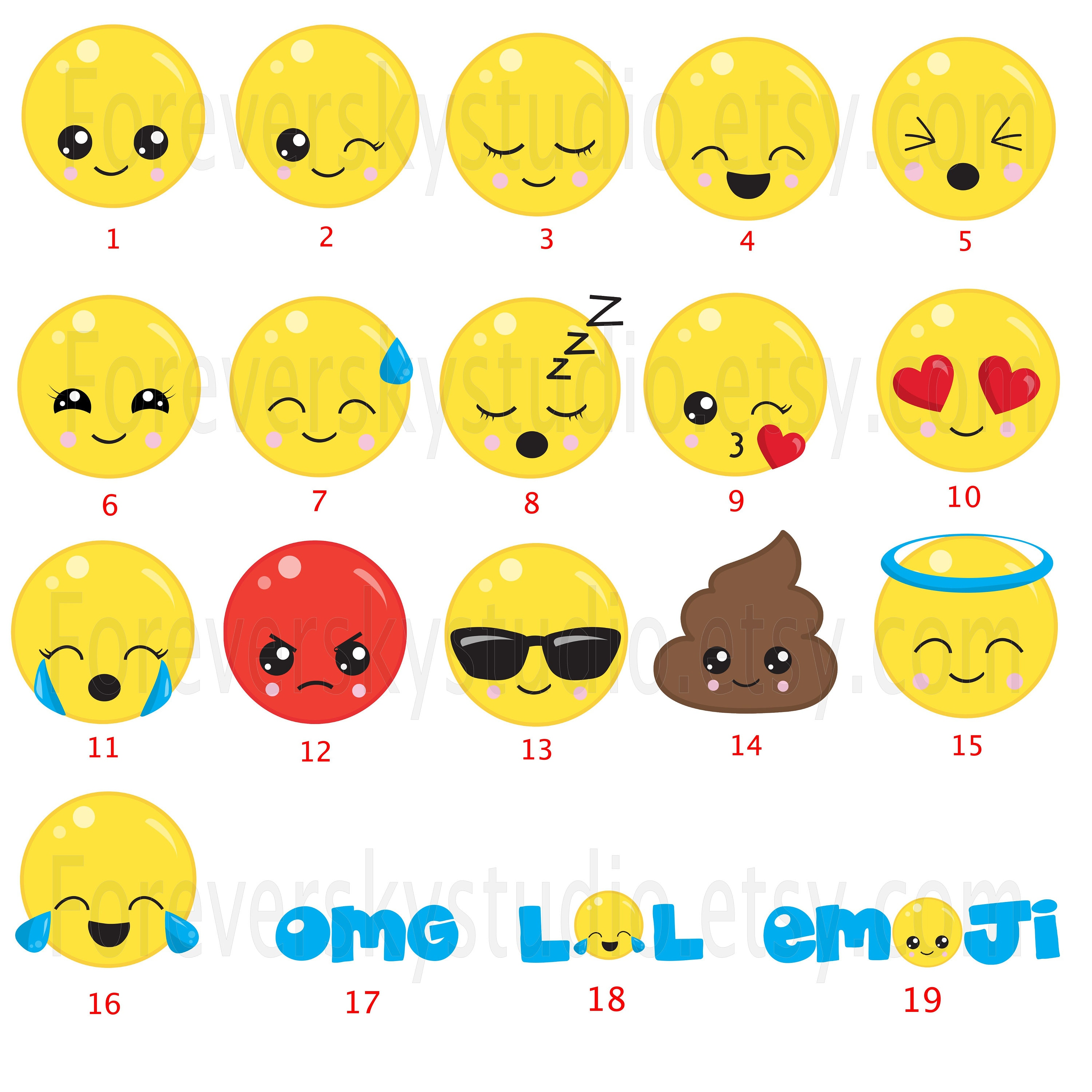 Emoji wall decals, fabric wall decals, kids wall decals, playroom ...