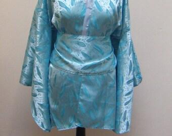 Top blue kimono with obi sash