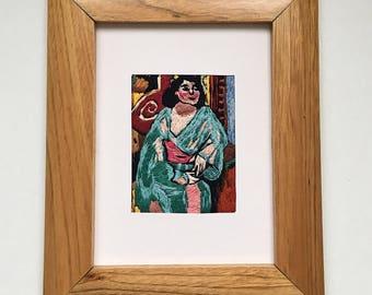"""Embroidered frame """"L'Algérienne"""""""