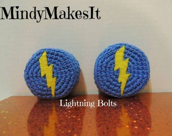 MindyMakesIt - Ear Pad Covers, Lightning (Crochet Headset, Headphone, Earpiece Cover, Earpad, Ear Cushion Replacement, Call Center)