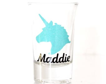 Unicorn Shot Glass | Unicorn Bachelorette Party | Bachelorette Party Shot Glasses | Personalized Shot Glass | Unicorn Bride | Unicorn Squad