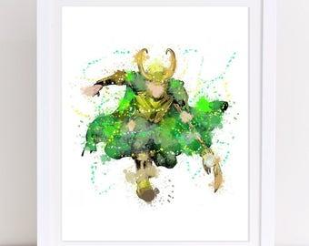 70% avengers watercolor, loki poster, thor poster, vikings watercolor, marvel watercolor, marvel poster, loki poster, loki watercolor, loki