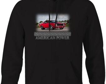 American Power Chevy Camaro Z28 Cowl Racing Drag Racing Hooded Sweatshirt- 5030