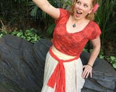 Moana inspired Disneybound 1950s style outfit! With pockets!