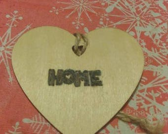 Heart Shaped Plaque HOME