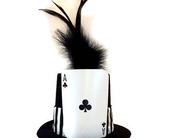 Ace of Clubs Tiny Top Hat