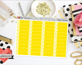 yellow check box. check box planner stickers yellow