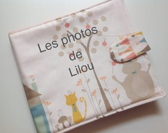 Kids fabric photo album personalized * 8 *.