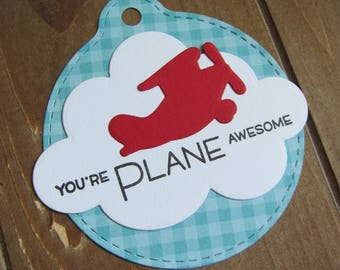 Airplane Tag (6)/Airplane Baby Shower/Airplane Birthday/Airplane Gift Tag/Airplane Favor