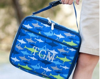Monogrammed Lunch Box ~ Shark Lunch box ~ Custom boys lunch box ~ Jaw Some Lunch Box