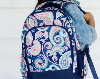 Monogrammed Emerson Paisley Backpack ~ Monogrammed girls backpack ~ Back to school backpack