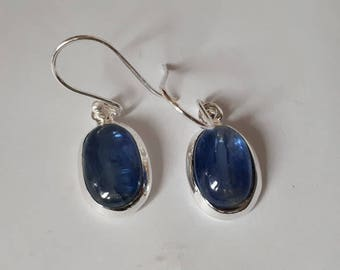 Silver kyanite earrings; 92.5 sterling silver