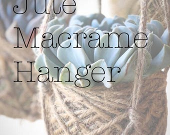 Kokedama Add-On: Jute Macrame Hanger
