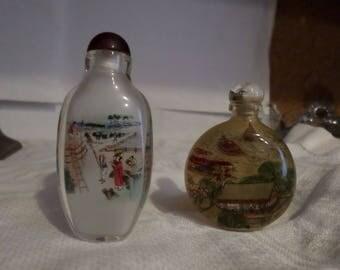 Oriental snuff bottles (2)