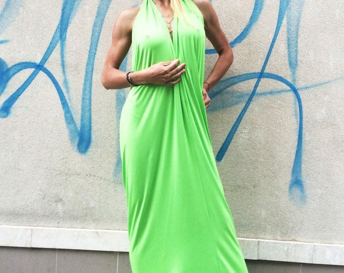 Plus Size Backless Dress, Extravagant Viscose Dress, Maxi Open Back Dress, Kaftan Abaya by SSDfashion