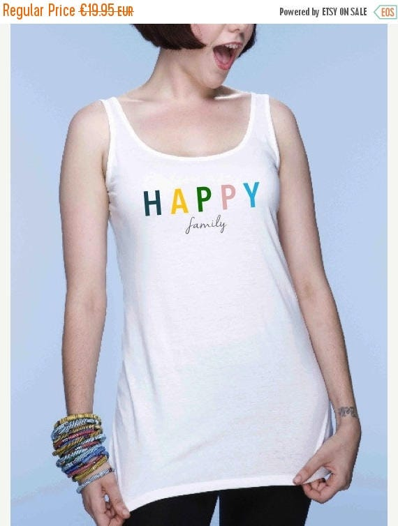 REBAJADO Round neck women t-shirt HAPPY