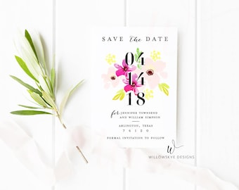 Floral Save the Date -- SAMPLE