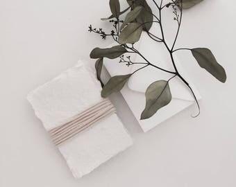 3 x 5 natural white handmade paper
