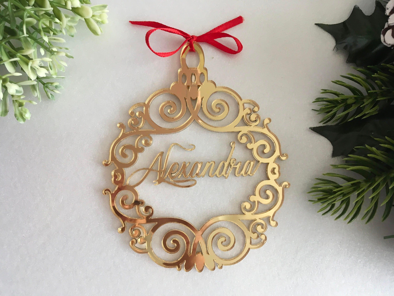 Christmas Name Bauble Custom Xmas Tree Ornaments First