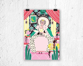 Poster Queen Catherine the Great - A3 print A4 poster girl's bedroom - cute gift for girl - cute poster girls room - princess poster cute