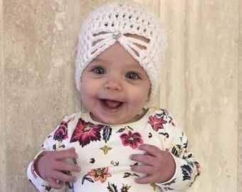 crochet newborn hat, crochet girl's hat, baby girl hat, newborn photo prop, crochet baby hat, crochet newborn girl hat, newborn photography
