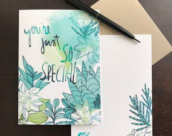 """4pc So Special Card Set (5""""x7"""")"""