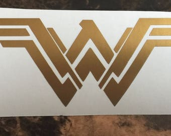 NEW Wonder Woman Gold Decal Sticker Logo, Any Color, Any Size for Car, Truck, Laptop, Window, Mug, Cooler, Die Cut Vinyl Decal Sticker