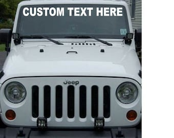 Custom Windshield Decals Word And Number Car Truck Window - Truck windshield decals
