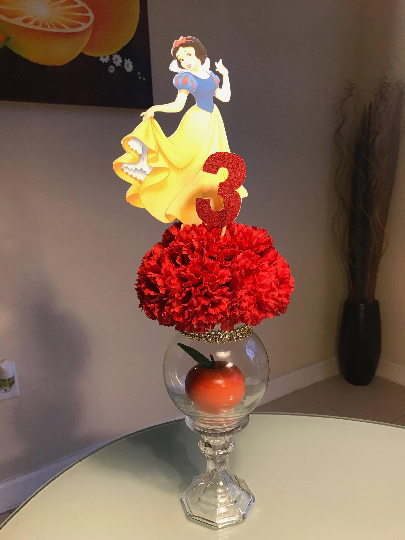 Snow White Centerpieces : Snow white centerpiece birthday