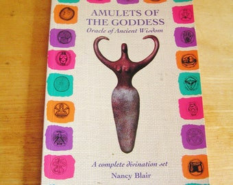 Vintage Amulet of the Goddess Oracle of Ancient Wisdom Book (Book Only) by Nancy Blair 1996