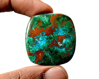 Chrysocolla 55.5 Cts AAA Quality Natural Gemstone Attractive Designer Square Shape Cabochon 33x32x5 MM R14098