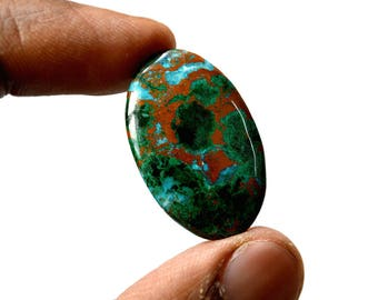 Chrysocolla 24.5 Cts AAA Quality Natural Gemstone Attractive Designer Oval Shape Cabochon 30x19x4 MM R14385