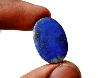 80% Sale Lapis Lazuli 17 Cts Natural Gemstone Cabochon  Superb Oval Shape Loose Cabochon 21x14x5 MM AC2497