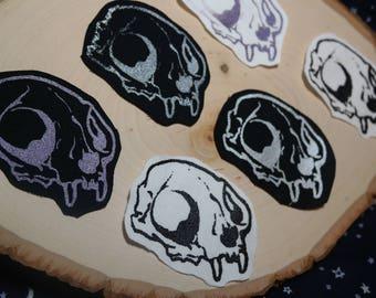 Cat Skull Bone Patch - Multiple Colors