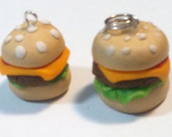 Cheeseburger Polymer Clay Charm