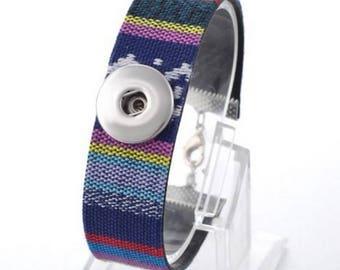Blue woven bracelet