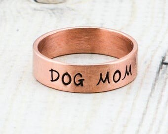 Personalized Copper Ring - Custom Name Ring - Hand Stamped Ring - Personalized Ring - Copper Wedding Ring - Men's Ring - Women's Ring