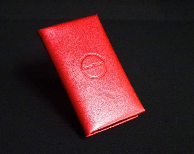 Smartfold4 Phone Wallet - Candy Red - Fits Apple iPhone 5 5S 5C - Kangaroo leather with Credit Card Blocking